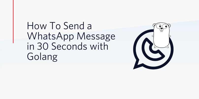How To Send a WhatsApp Message in 30 Seconds with Golang