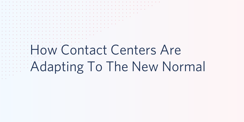 Contact Center Changes