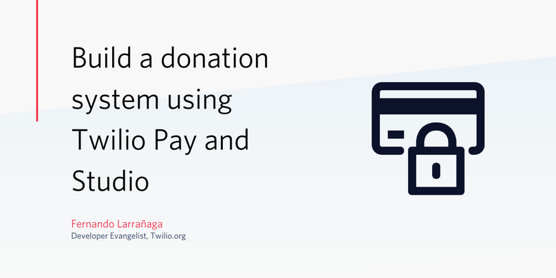 Article header for building a donation system with Pay and Studio