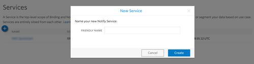Create New Notify Service