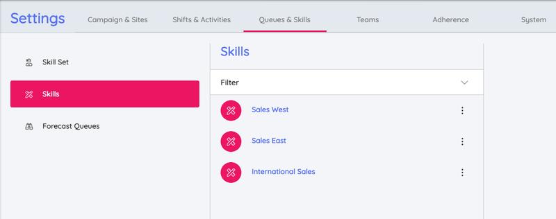 Create Skills Puzzel WFM
