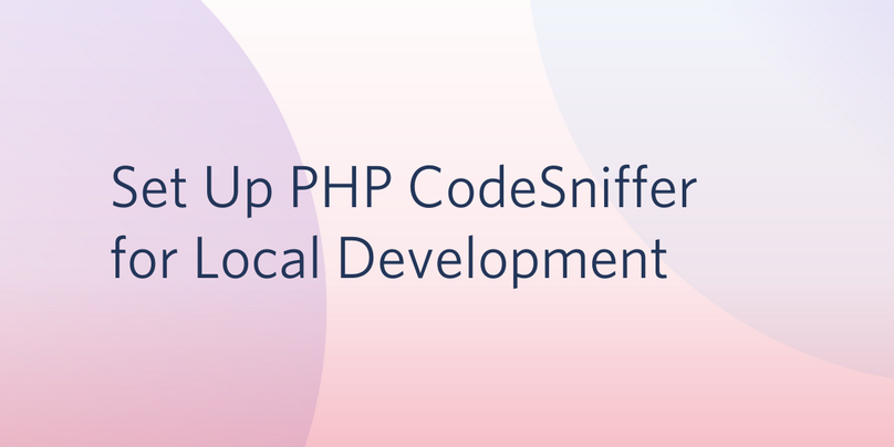 Set up PHP CodeSniffer for Local Development