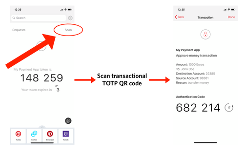 TOTP transactionnel