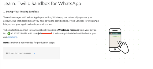 Twilio Sandbox for WhatsApp