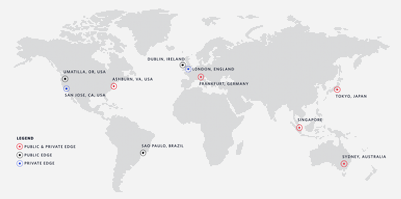 Map of Twilio Edge Locations