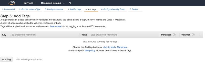 screenshot of step 5: add tags