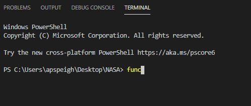 verify azure core tools is installed