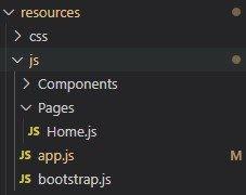 React project folder organization