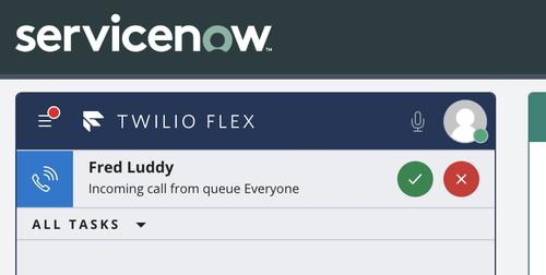 ejemplo de nueva llamada en Twilio Flex