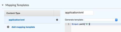API Gateway template