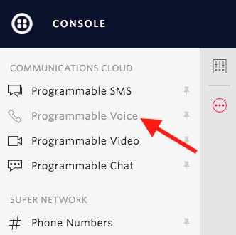 Console navigation: programmable voice