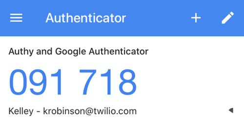 google authenticator added token