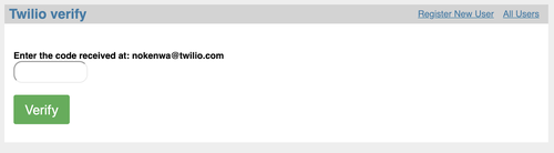 Sample Code Verification Page