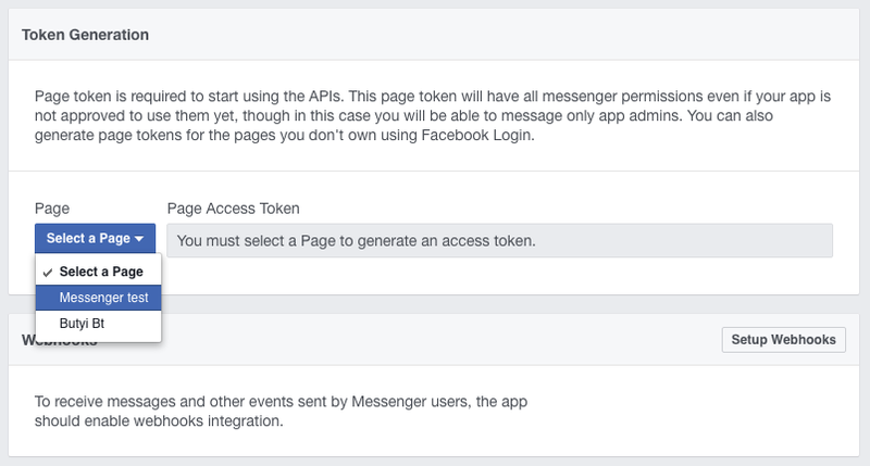 Generate Facebook access token