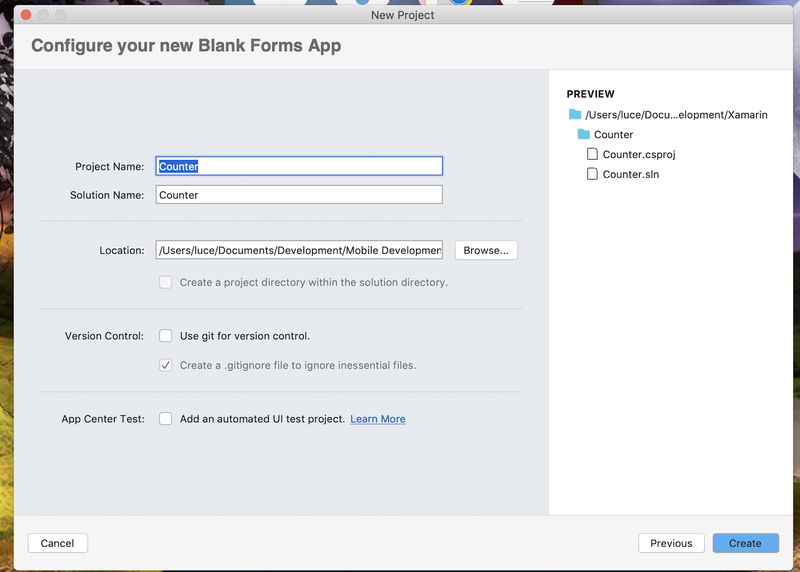 Naming your blank forms app