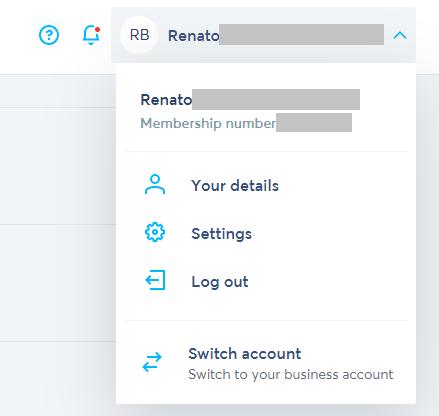 TransferWise settings
