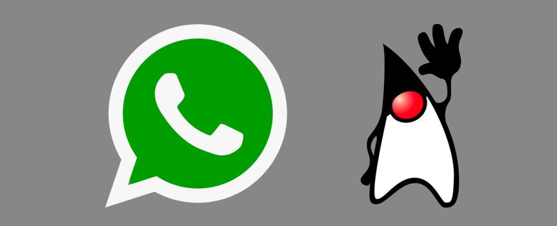 Logomarcas do WhatsApp e do Java