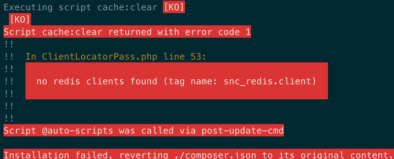 Redis error message