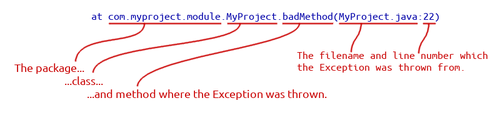 how to read stack trace