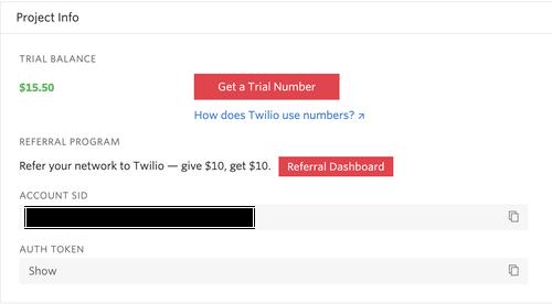 Twilio-console