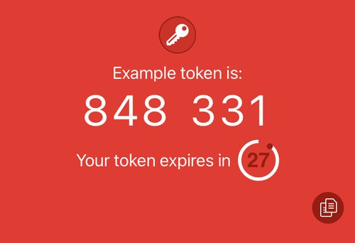 Example TOTP token in the Authy App showing that the token expires in 27 seconds