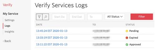 verify services logs