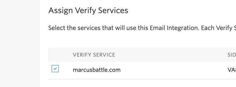 Twilio Verify Service