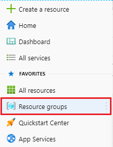 resource groups option