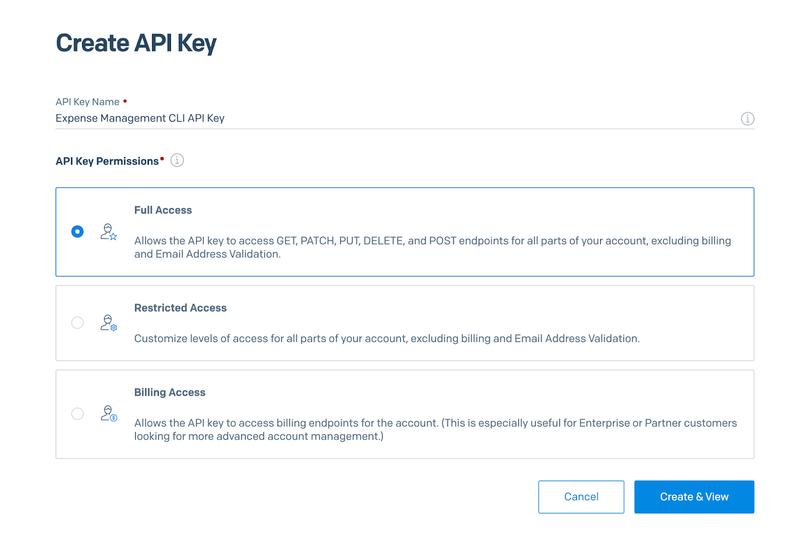 Create a SendGrid API key, step 2