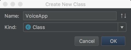 Create new VoiceApp class
