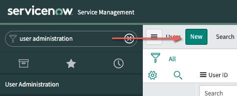 Botón para crear un nuevo usuario