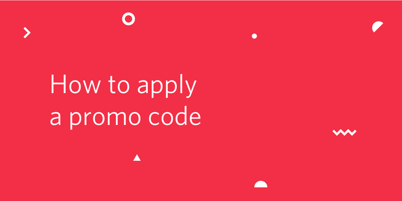 "Decorative header image ""How to apply a promo code"""