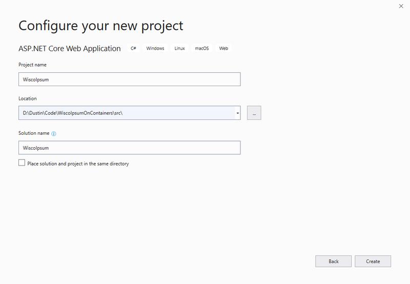 Configure your new ASP.NET project