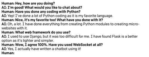 Demonstração do chatbot