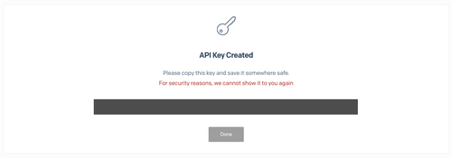 Created Api Key with Twilio SendGrid