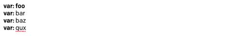 Preenchimento 'foo' com prefixo, sequência de parada e texto inicial
