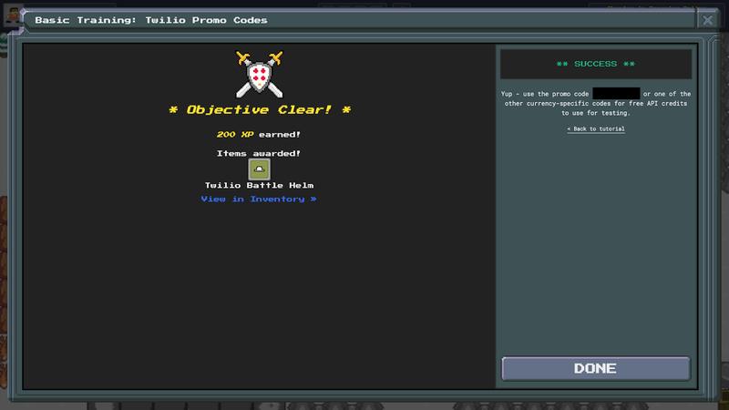 TwilioQuest3 - Basic Mission - PromoCode Chest - Success