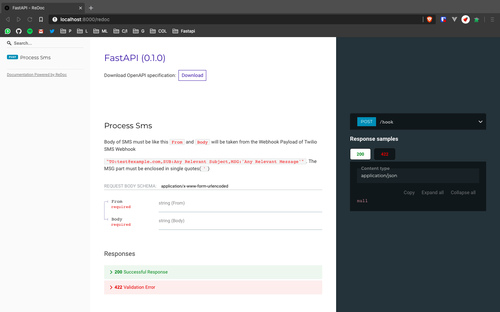 FastAPI's ReDoc UI