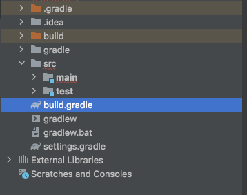 project directory for the build gradle file