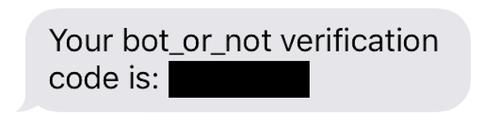 Mensaje SMS recibido con código de verificación.