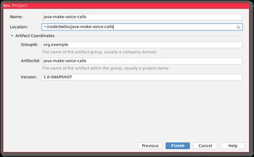 Captura de pantalla de la configuración de IntelliJ Maven, configuración como se describe en la prosa.