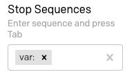 Stop sequences