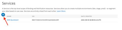 Notify SMS Quickstart - set up Notify Service Instance