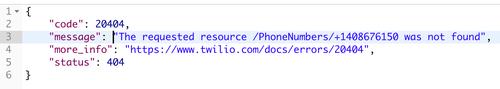 404 respuesta no encontrada de API de Lookup