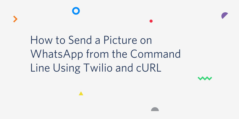 How to Send a Picture on WhatsApp from the Command Line Using Twilio and cURL