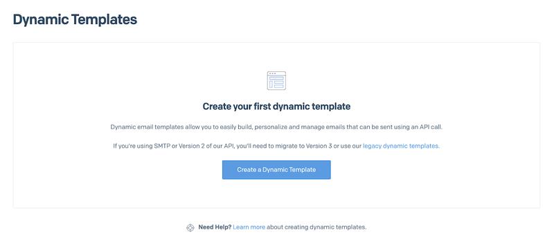 SendGrid Dynamic Email Template