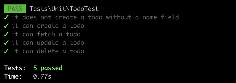 Full set of unit tests passing