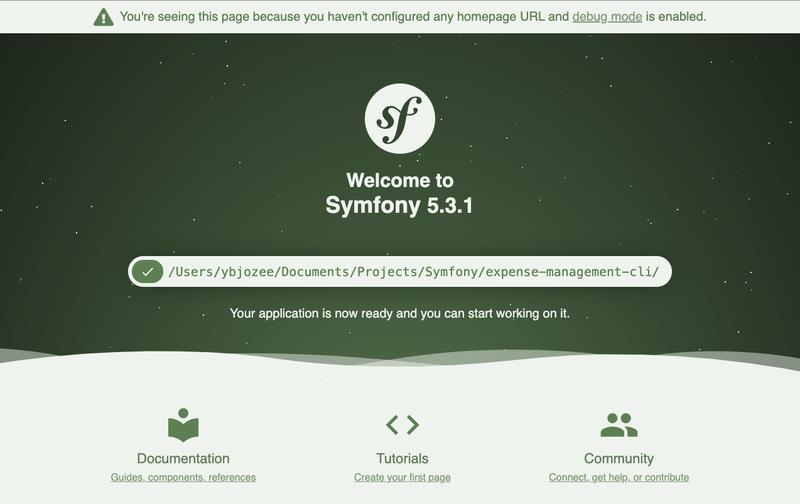 Default Symfony route
