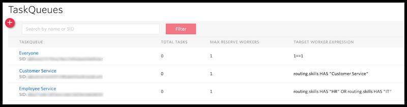 List of TaskQueues in Flex