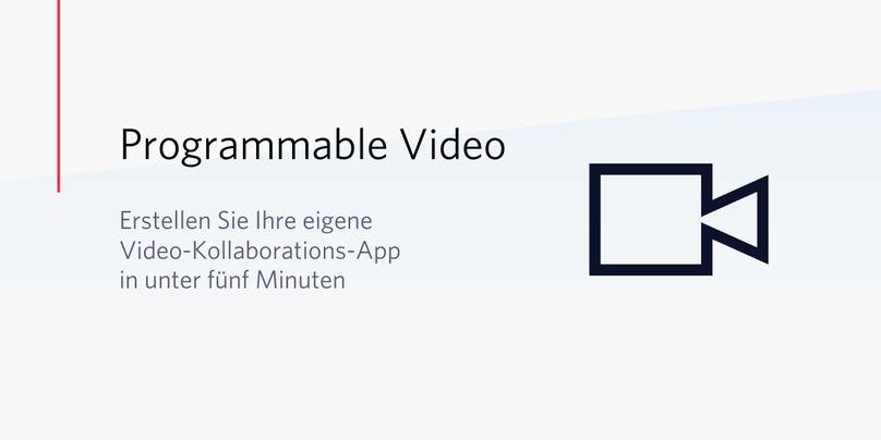 Überschrift im Bild Erstellen einer eigenen Video-Kollaborations-App